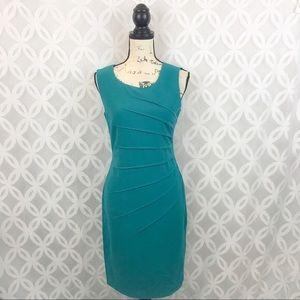 Calvin Klein turquoise starburst sheets dress 6